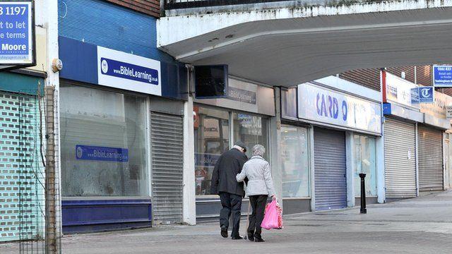 Closed shops on British high street