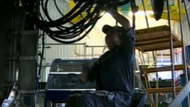 Engineering trainee at work