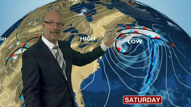 Peter Gibbs and weather map