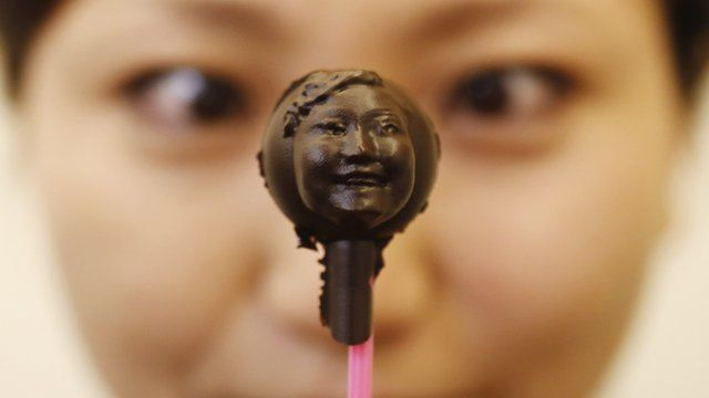 Chocolate face model