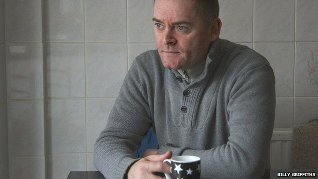 Ralph Bulger pictured at home in Kirkby