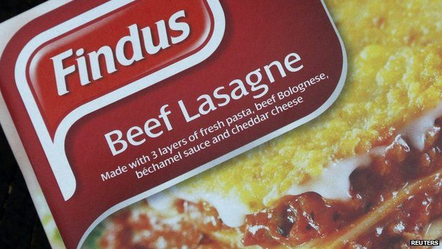 A box of Findus brand beef lasagne