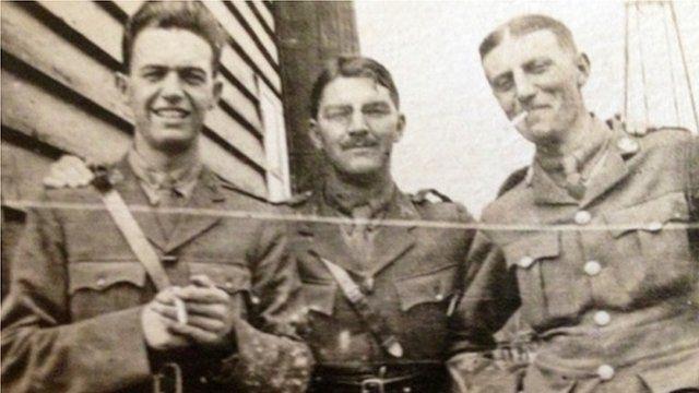 Capt Evan Silk (right)