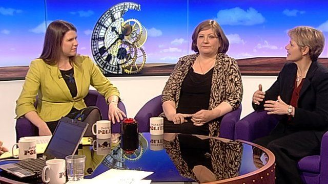 Jo Swinson, Emily Thornberry and Alice Arnold