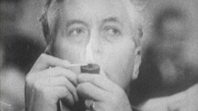Harold Wilson with pipe