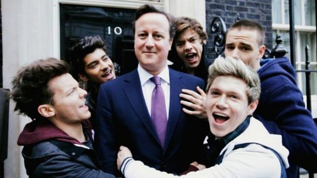 David Cameron and One Direction