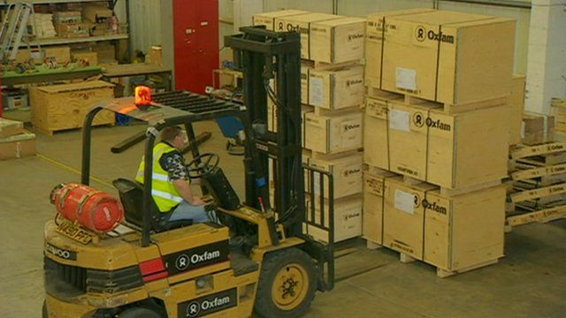 International aid in depot