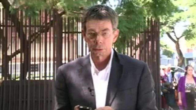 Peter Biles in Pretoria