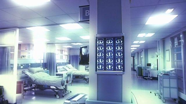 Ward in blue light