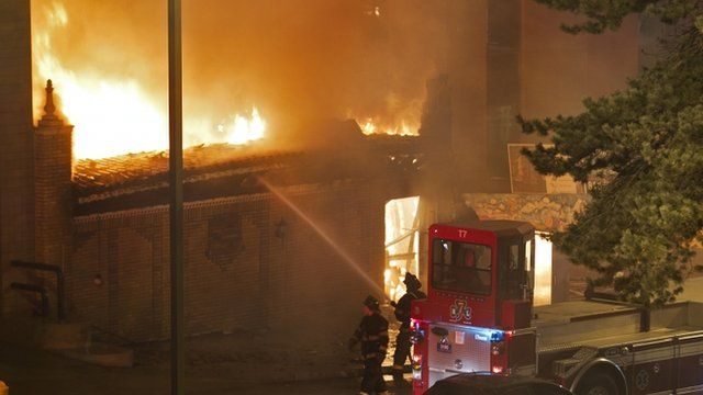Fire-fighters tackling blaze at Country Club Plaza, Kansas City