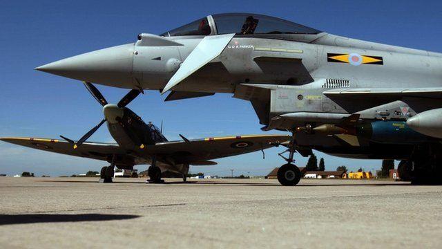 Typhoon jet fighter