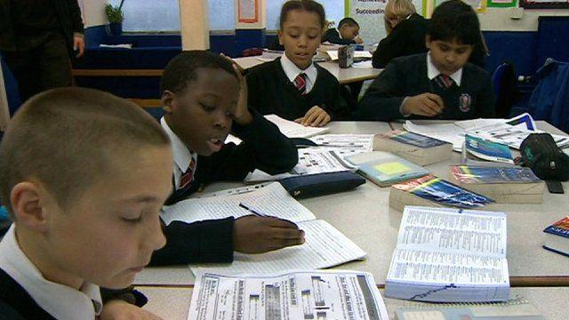 Pupils at Little Ilford School, London