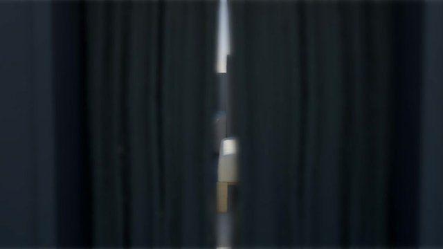 Animated curtains inside Oscar Pistorius' home
