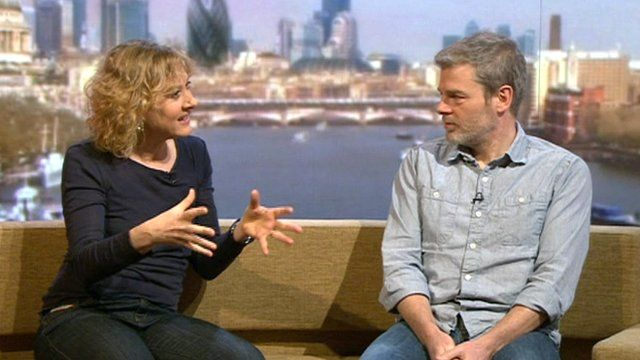 Niamh Cusack and Mark Haddon