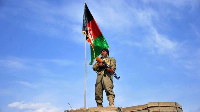 An Afghan Local Police (ALP) personnel