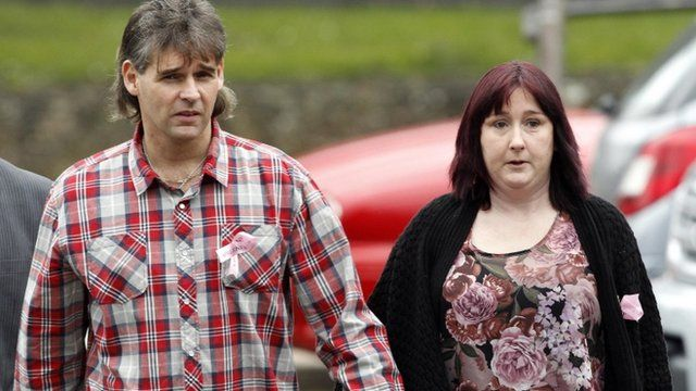 April's parents Paul and Coral Jones arrive for the court case