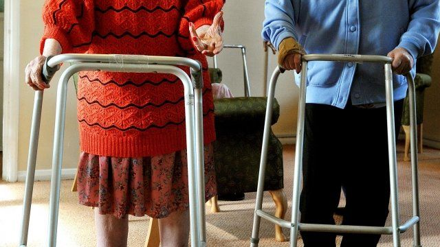 Elderly residents at a North East London nursing home