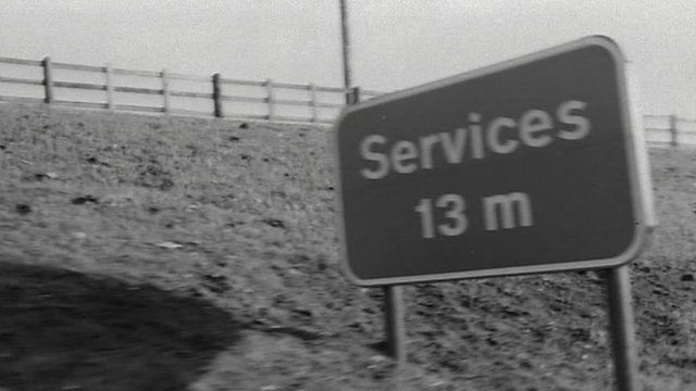 Motorway services sign (archive)