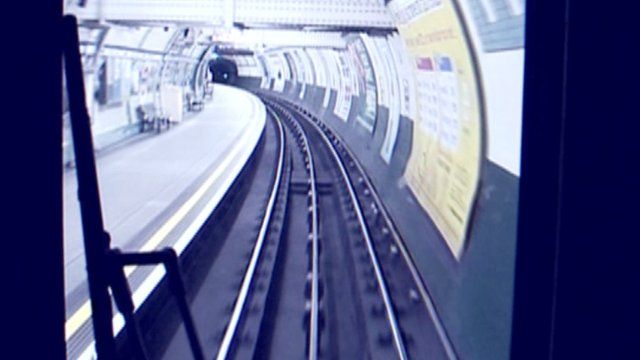 View from the seat of Tube driver