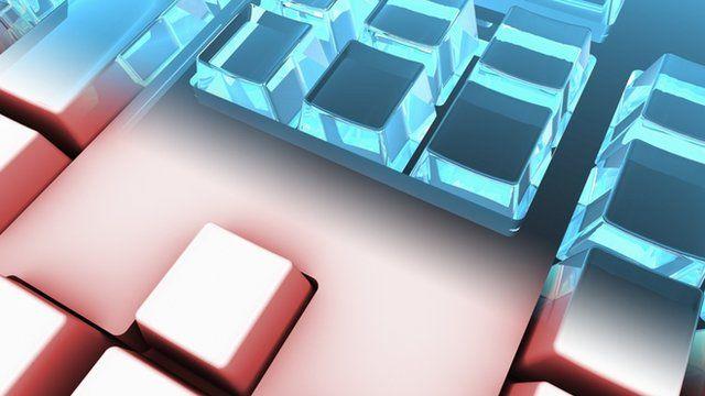 Artwork of a computer keyboard