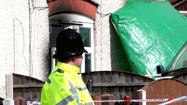 Police outside the Philpott house
