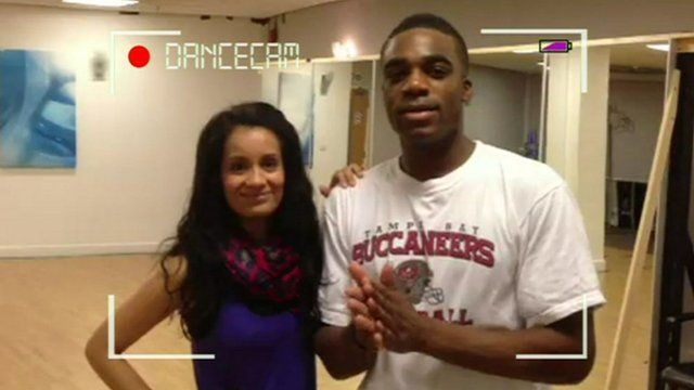 Ore and Sonali in training for Let's Dance for Comic Relief