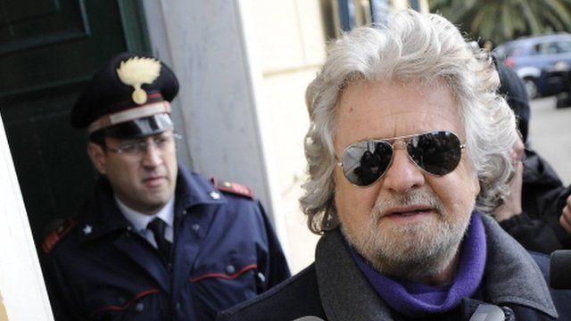 Italian ex-comedian Beppe Grillo