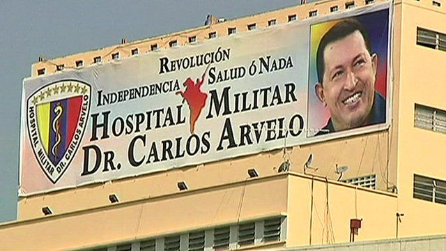 The military hospital where Chavez is being treated