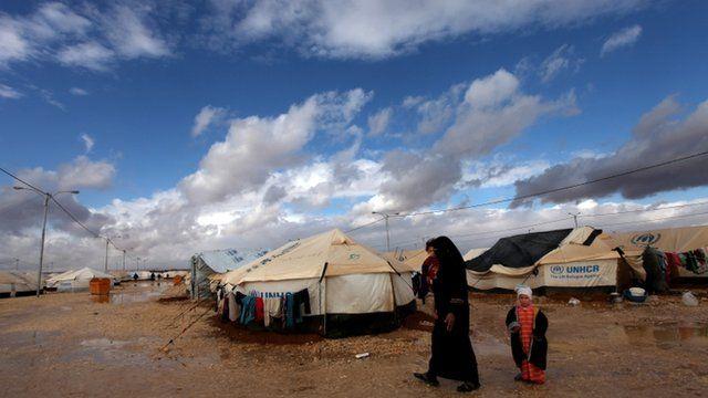 Zaatari camp for Syrian refugees in Mafraq, Jordan