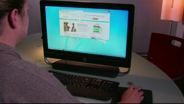 Person using personal computer
