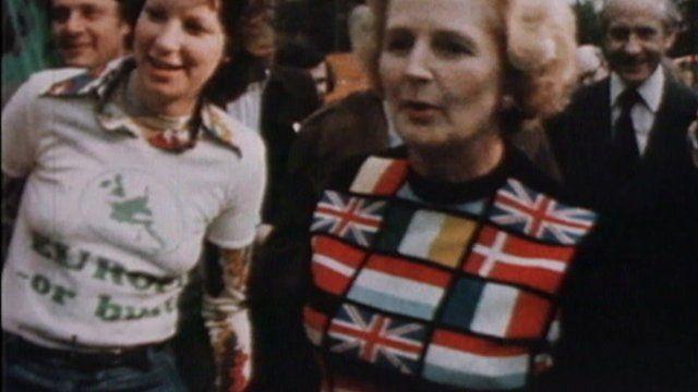 Margaret Thatcher in EEC clothing