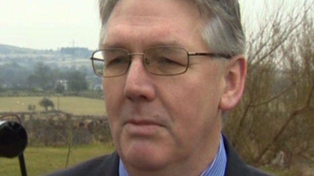 The leader of Gwynedd council Dyfed Edwards