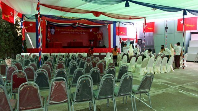 Preparations for the National League for Democracy congress