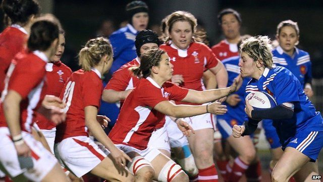 Six Nations women Rugby Union match France vs Wales
