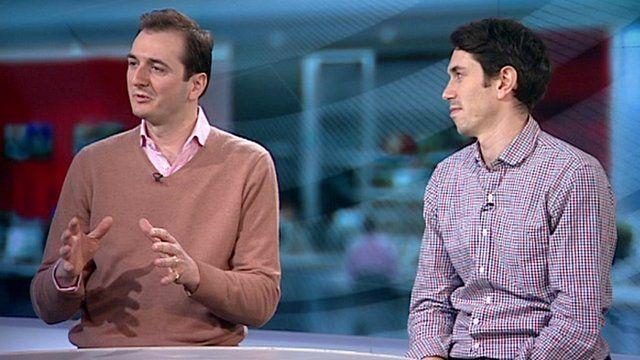 Culture Show presenter Alistair Sooke (right) and art historian Dr Bendor Grosvenor
