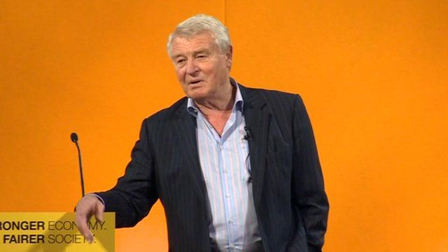 Paddy Ashdown, the Liberal Democrat's former leader