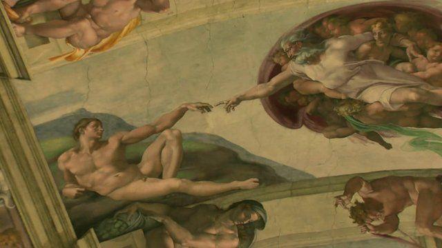 Fresco inside the Sistine Chapel