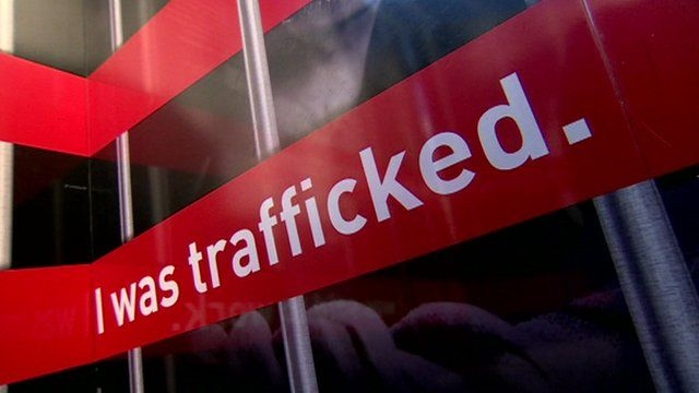 Awareness campaign poster about trafficking