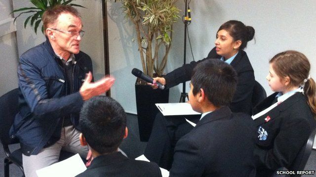 Danny Boyle talks to School Reporters from Morpeth School