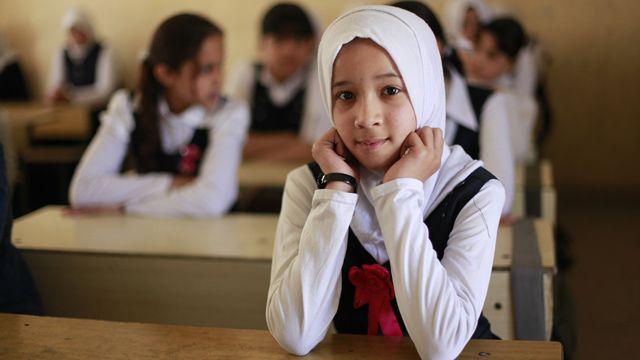 Schoolgirls in Iraq