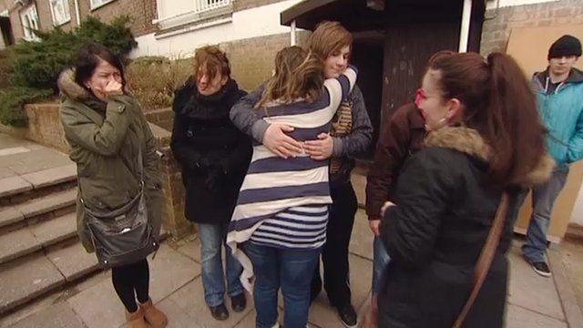 Tenants leaving their flats