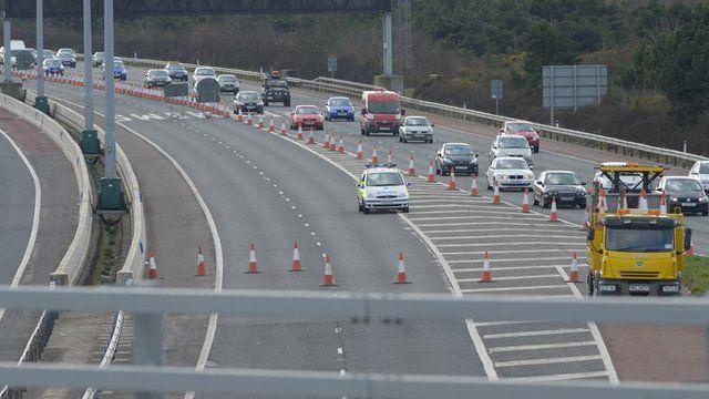 M5 lanes closed
