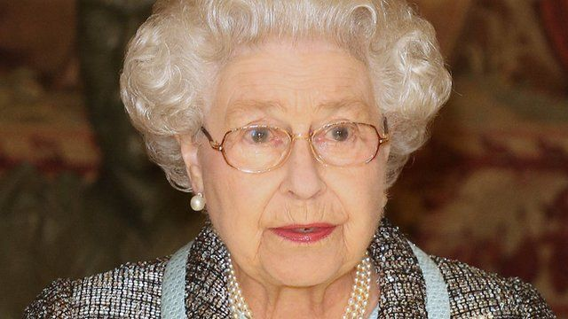The Queen at Marlborough House Commonwealth reception on 11 March 2013
