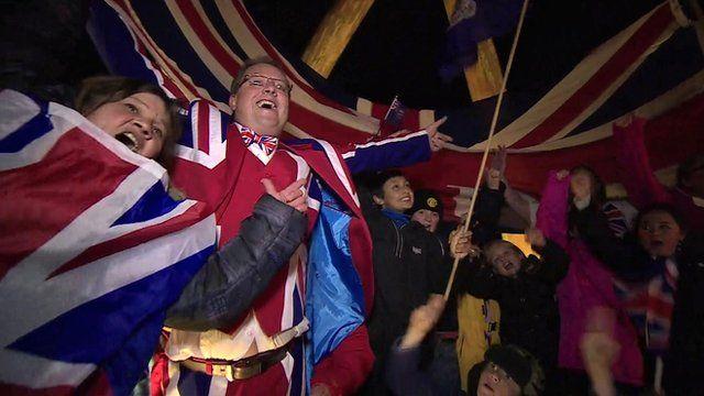 Falkland Islanders celebrate ballot result