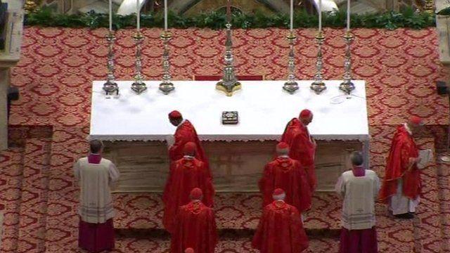 Cardinals at the mass