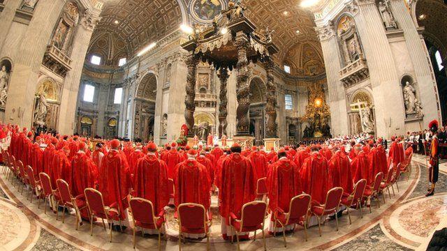 Cardinals at St Peter's Basilica