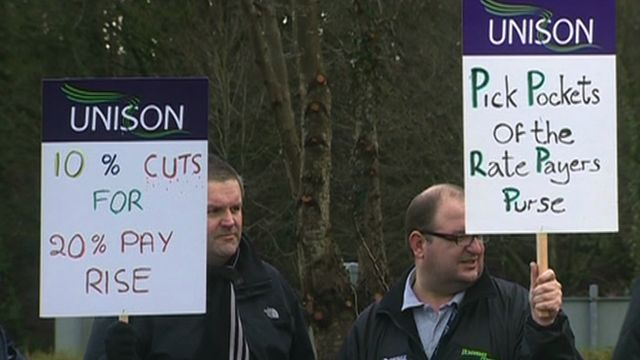 Protesters against pay rise for senior public officials