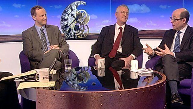 Steve Webb, Hilary Benn and Nick Robinson