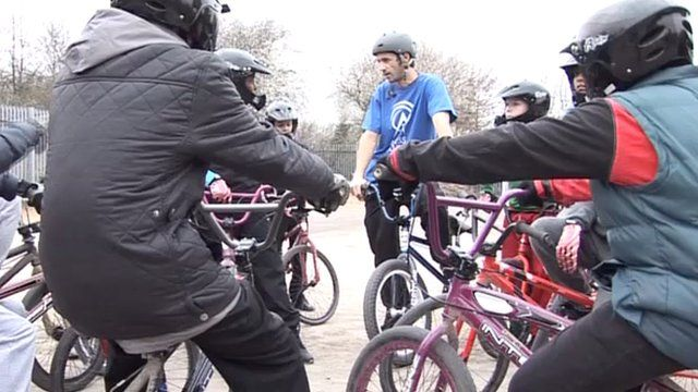 Youngsters try out BMX riding