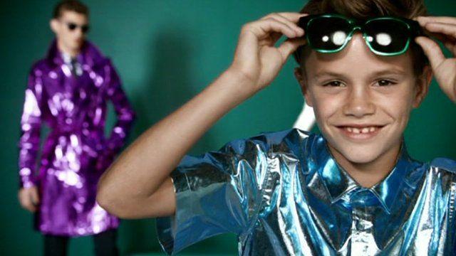 Romeo Beckham in Burberry advert